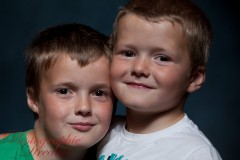 Family portraits in Rosyth of two wonderful boys